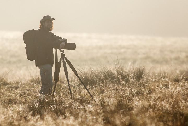 Při focení jelenů v Dánsku (foto: Jakub Hodáň)
