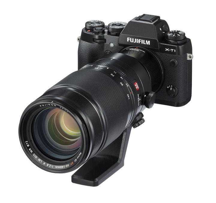 Takhle nějak vypadá celá sestava s objektivem XF50-140mm