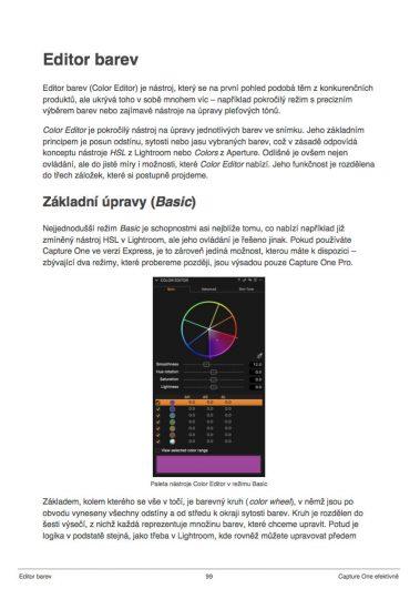 PDF ukázka – editor barev
