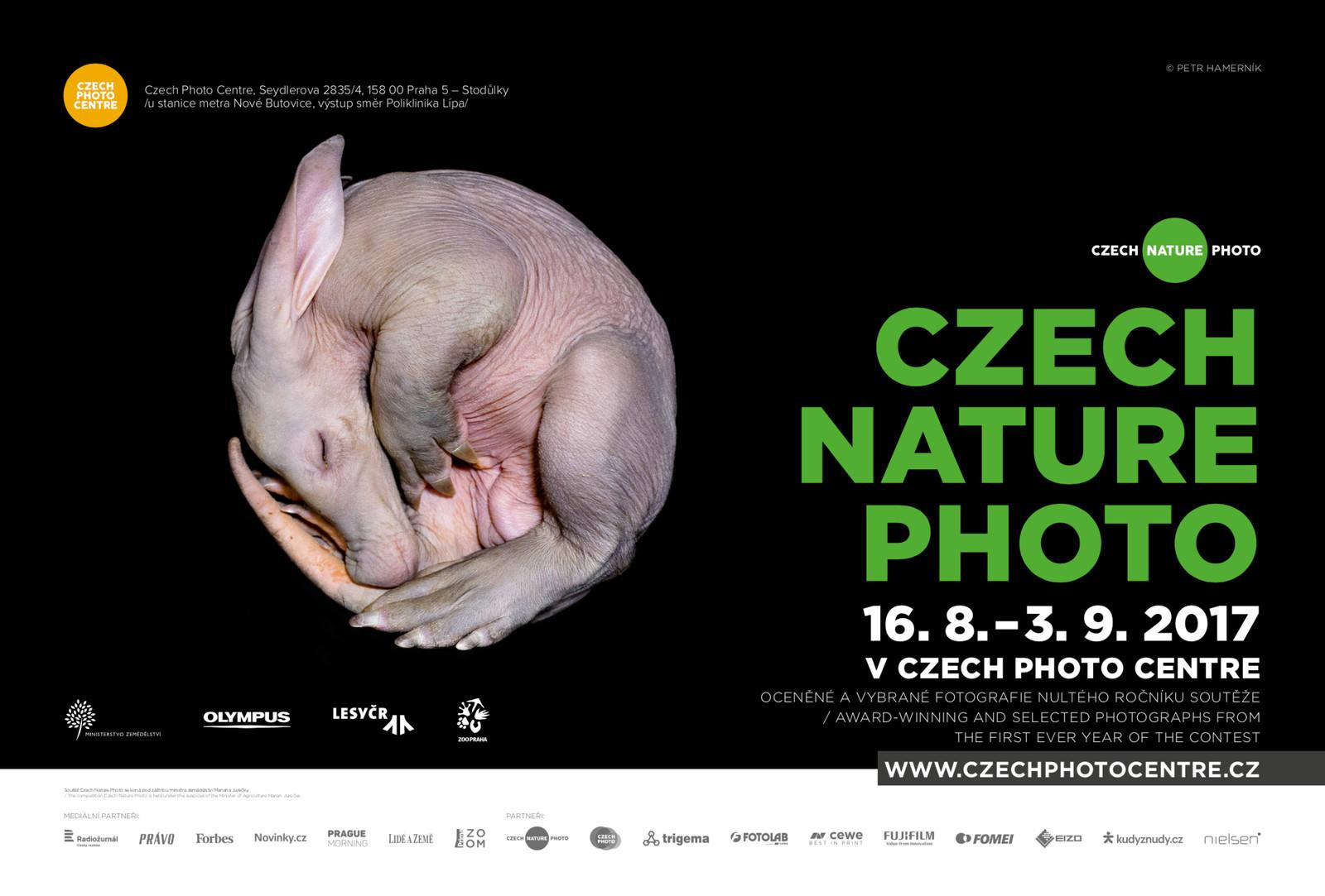 Plakát k výstavě oceněných fotografií v soutěži Czech Nature Photo