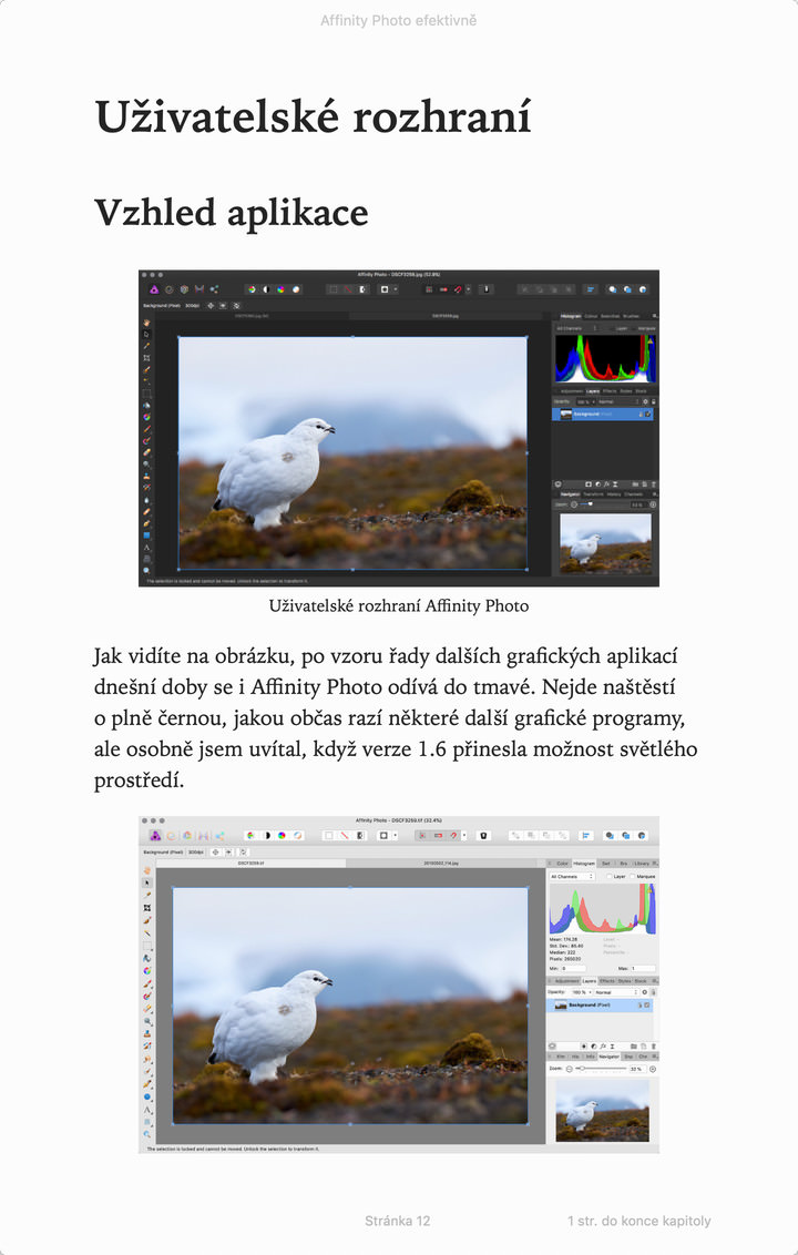 Ukázka Affinity Photo ePub 2