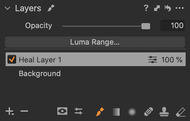 All drawing tools are available in the Layers palette too. The button for changing layer type previously located above the layer list is gone - now you have to create a layer of the right type.